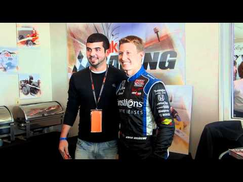 Penske Racing Driver Ryan Briscoe Talks with Mazak Customers at Kentucky Speedway