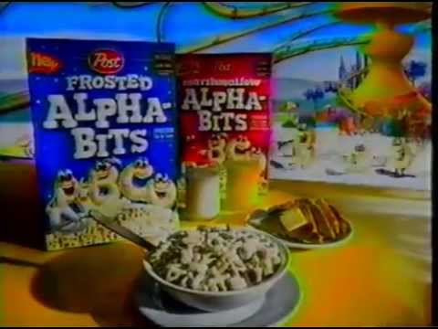 Post Frosted Alpha-Bits Cereal Commercial