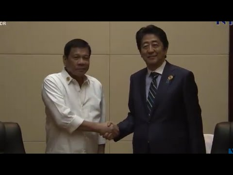 Philippine President Duterte Meeting With Shinzo Abe Japan Prime Minister