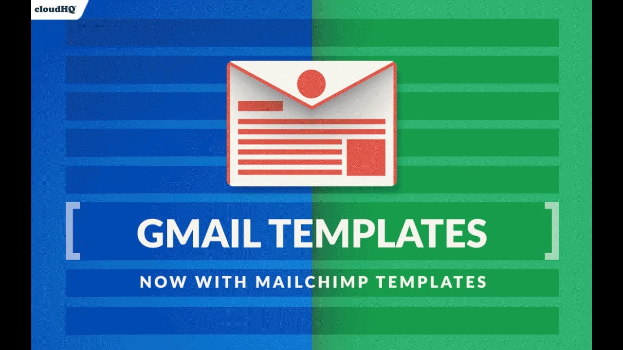 new import and share mailchimp templates in gmail youtube. Black Bedroom Furniture Sets. Home Design Ideas