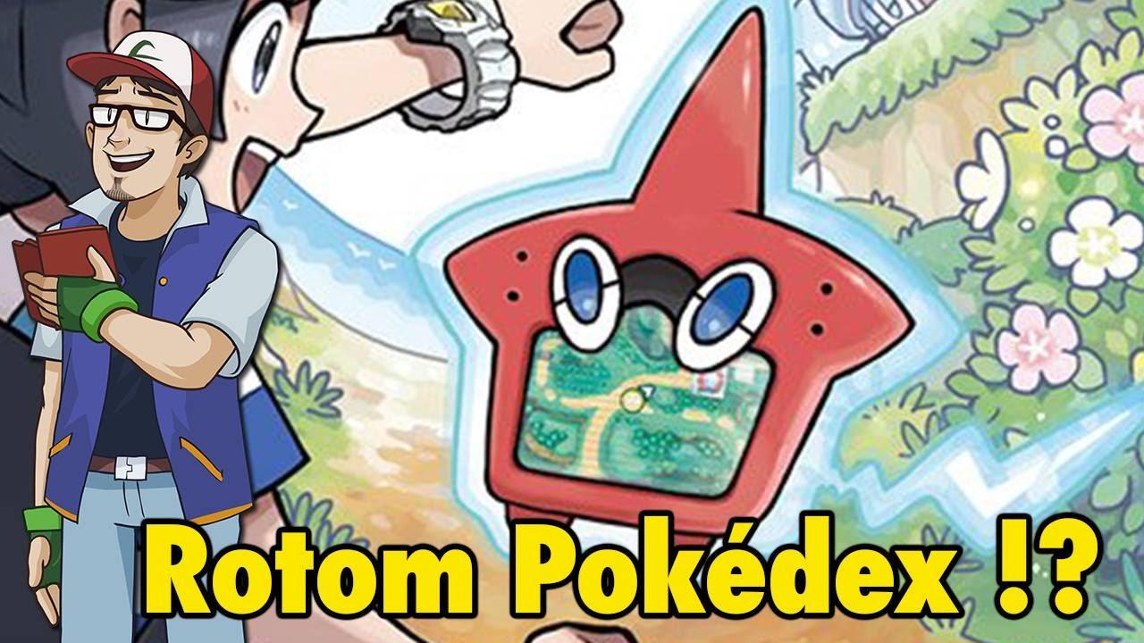 Rotom Pokedex Pokemon Sun Amp Moon News Youtube