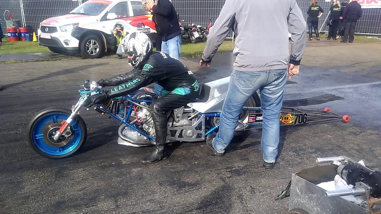 Wonderlijk Jan honee single cylinder 500c 8.2 sec topfuel bike drachten 2017 XC-06