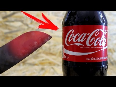 Thumbnail: EXPERIMENT Glowing 1000 degree KNIFE VS COCA-COLA