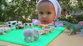 Учим животных ☀️ Ребенок играет ☀️ Для самых маленьких