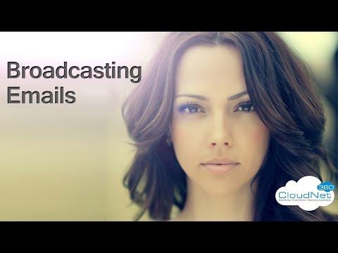 Broadcasting Emails - Webinar