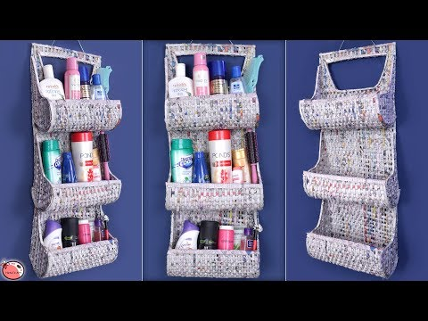 Best Out Of Waste .... News Paper Craft || DIY Room Organizer !!!