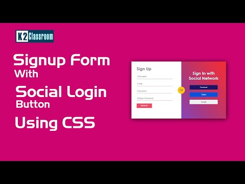 How To Create Signup & Login Form In Html Css | Simple Registraion Form | Social Login Form HTML