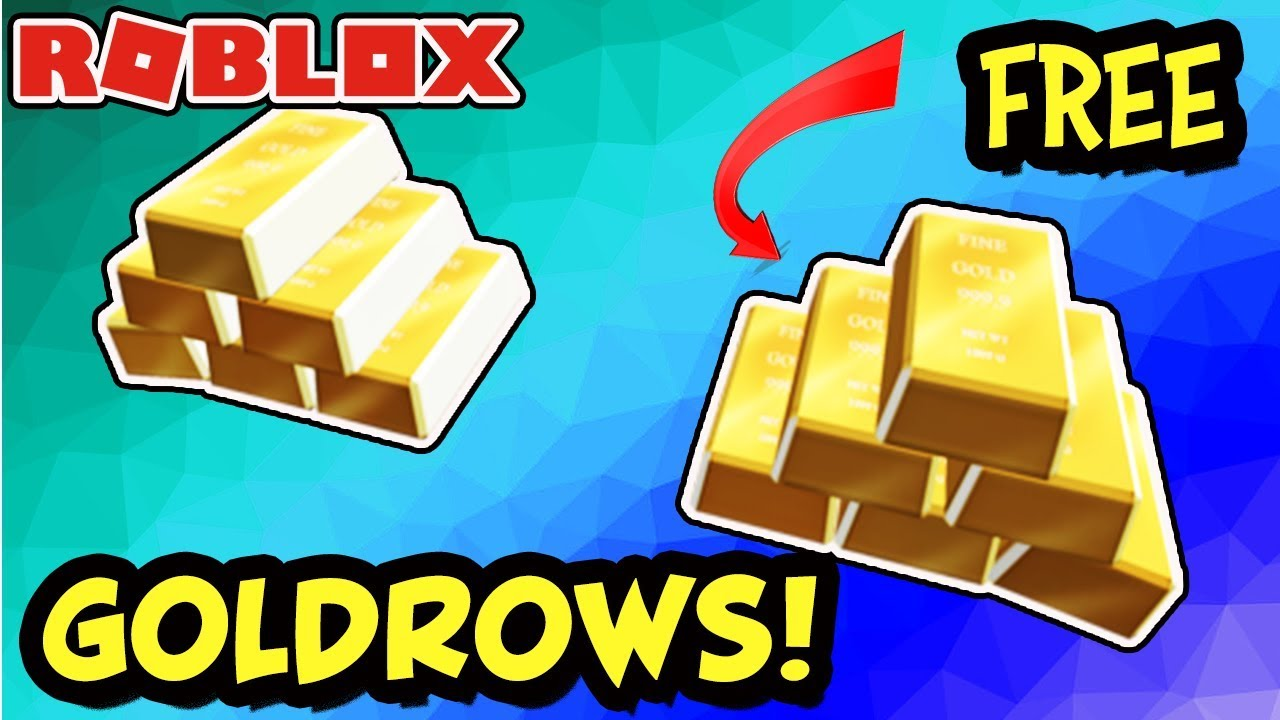 Free Item How To Get The Goldrow Roblox Gold Bar Headrow On