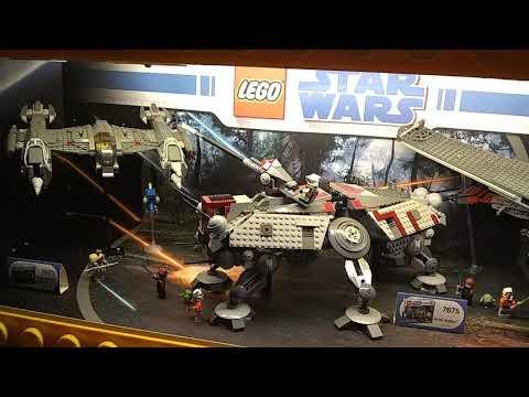 Star Wars Lego Clone Wars Toys R Us Display