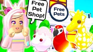 I Built a FREE PET SHOP in Roblox Adopt Me! NEW SHOP UPDATE