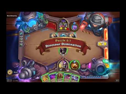 Solution Puzzle Lab Lethal: Dinosaur Domination - Myra Rotspring (2/7), Hearthstone Boomsday