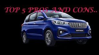 Maruti Suzuki Ertiga Pros and Cons  Next-Gen(Face-Lift) Maruti Suzuki Ertiga 2019