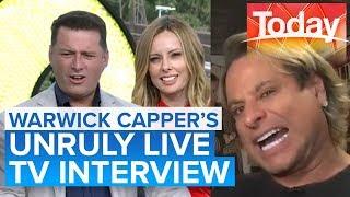 Hosts speechless when Warwick Capper begins singing   Today Show Australia