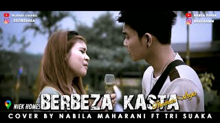 Download Lagu BERBEZA KASTA - THOMAS ARYA (LIRIK) COVER BY NABILA MAHARANI FT. TRI SUAKA mp3