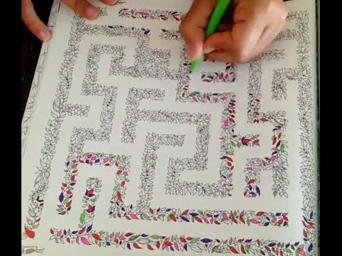 Secret Garden Colouring Book The Labyrinth