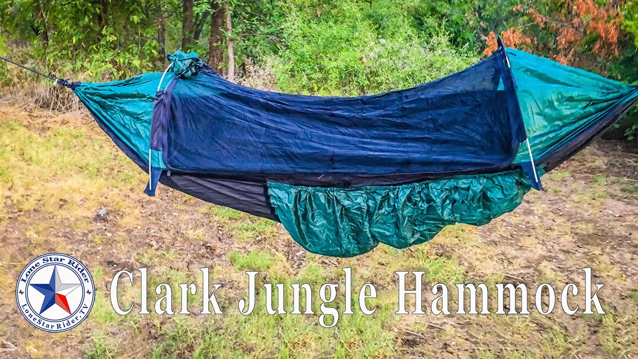 C&ing With The Clark Jungle Hammock & Camping With The Clark Jungle Hammock - YouTube