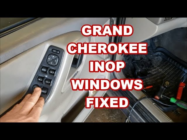 Jeep Grand Cherokee Windows Don T Work 1999 2004 Replace Master Switch Broken Wires Youtube