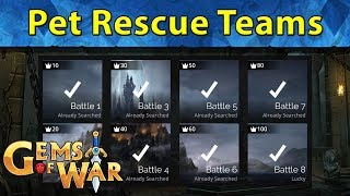 Gems of War: Pet Rescue Teams | How to Win All 8 Battles at Any Level Guide