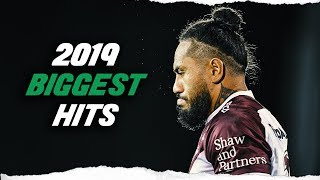 THE BIGGEST HITS OF NRL 2019