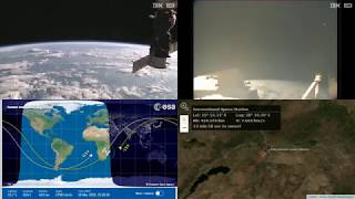 Passing Over Evening South Africa - NASA/ESA ISS LIVE Space Station With Map - 571 - 2019-03-18