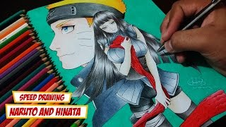 Speed Drawing Naruto and Hinata (Naruto The Last)