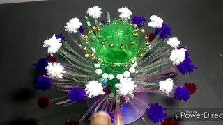 DIY: Beautiful Flower/Empty plastic bottle vase making Crafte /New Woolen Guldasta / Goldasta !!