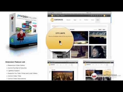 Galería de vídeos responsive Joomla 2.5 con JM Video Gallery Lite