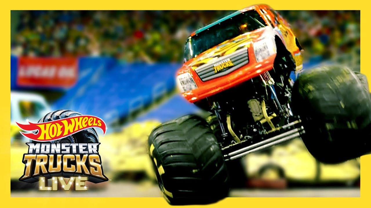 SMASHING CARS WITH REAL LIFE MONSTER TRUCKS! | Monster Trucks LIVE | @Hot Wheels