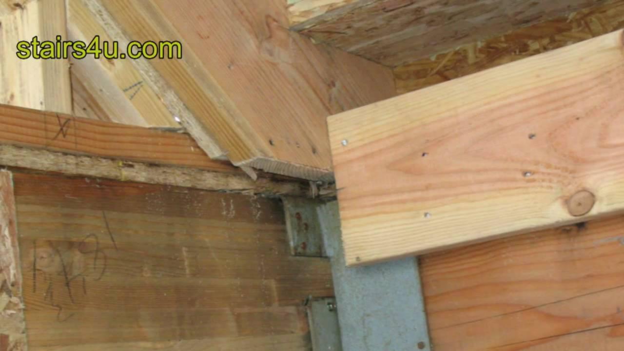 Stairway Stringer Metal Bracket Problem - Stairs ...