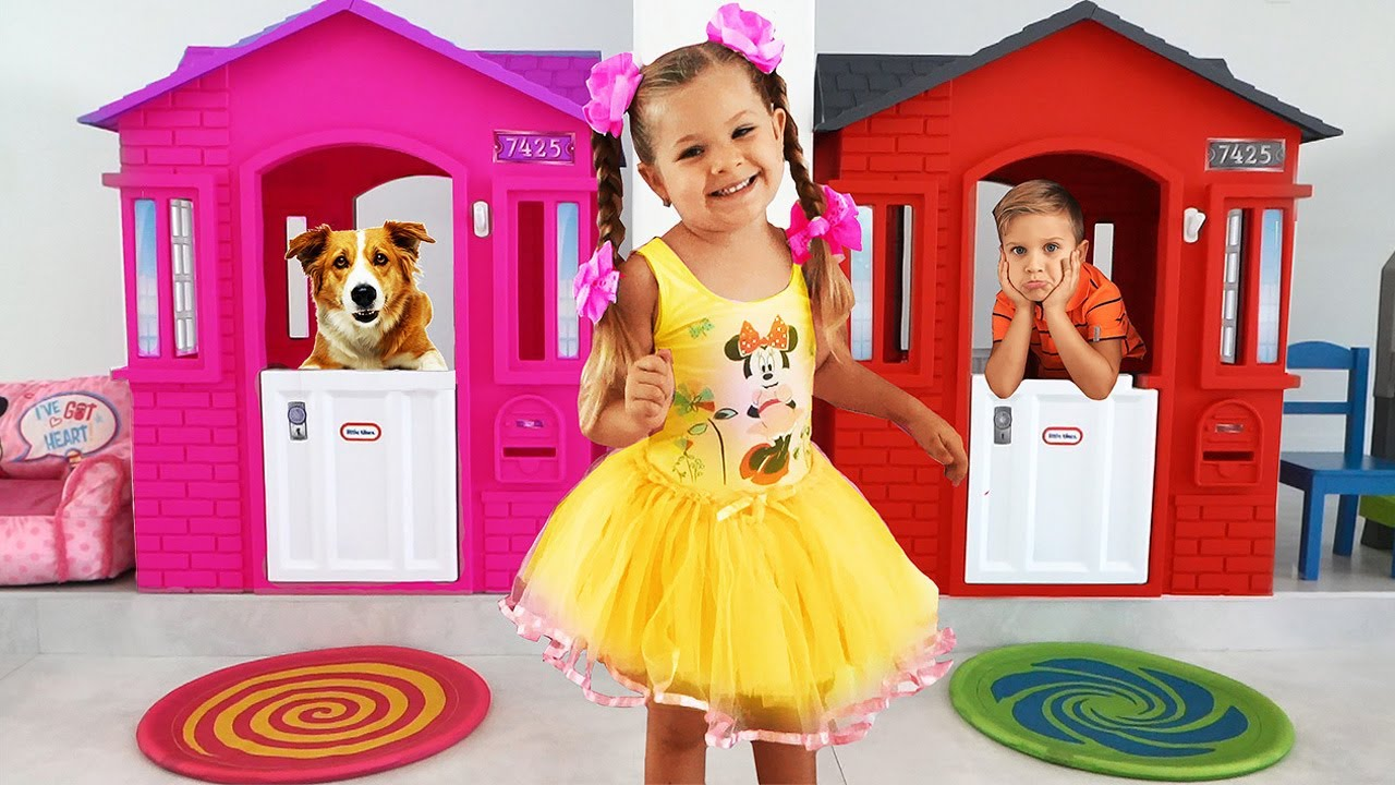Download Diana and Funny toy dog