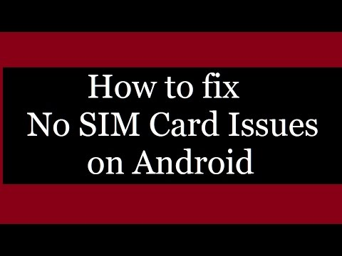 How to fix no sim card issue on android phones I NO SIM CARD DETECTED