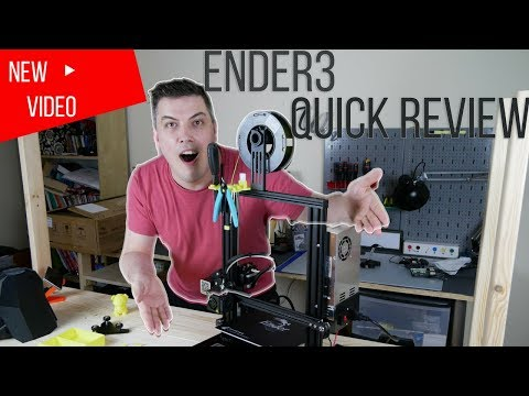 Creality Ender 3 Printer Review - First Thoughts, best budget printer?