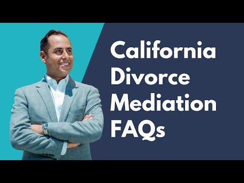 California Divorce Mediation FAQs