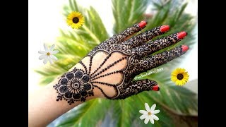 Latest Beautiful easy khaleeji arabic new gulf mehndi designs for hands tutorial for eid,diwali