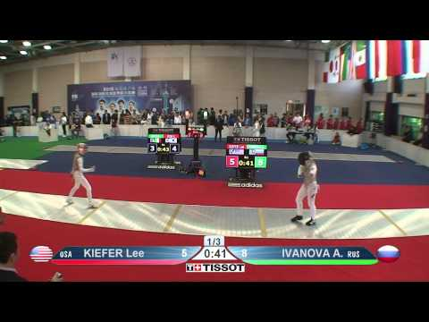 Shanghai 2015 WF GP T32 08 red Ivanova A RUS vs Kiefer L USA