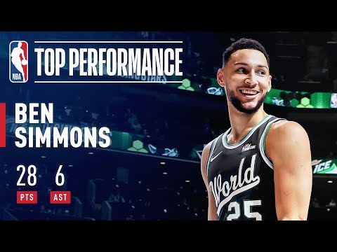 Ben Simmons Puts Up 28 Points & 6 Assists In Rising Stars Game   2019 NBA All-Star