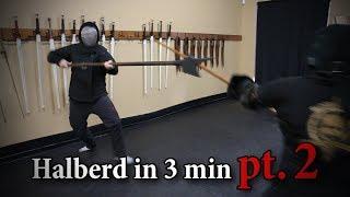 Halberd in 3 minutes PART 2 - Showcasing HEMA YouTube Videos