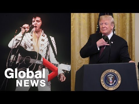'Elvis has left the house': Trump misquotes saying during tribute to 'King of Rock'