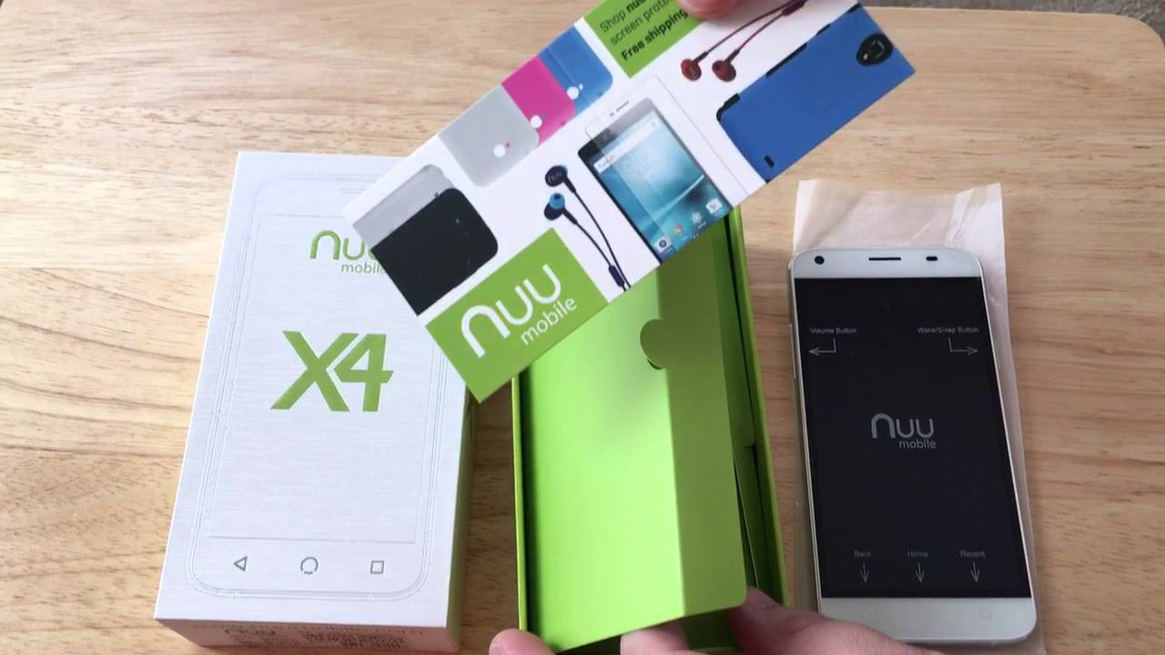 Nuu Mobile X4 4G LTE Dual SIM Android Smartphone Unboxing 1-24-16