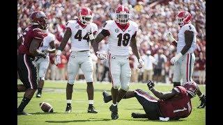 #3 Georgia Highlights Vs. #24 South Carolina 2018 | CFB Week 2 | College Football Highlights 2018