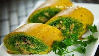 Vegetable Roll Up (kookoo Sabzi Roll Up) Recipe