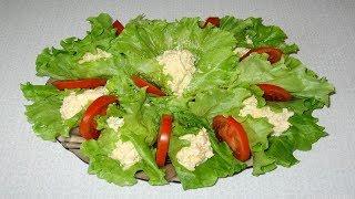 Куриный салат с грибами сыром и яйцом!