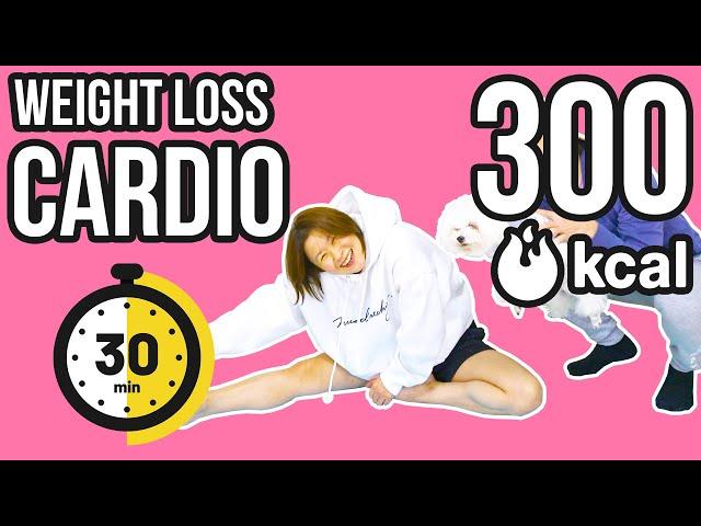 Weight loss cardio 30 min burn 300 kcal! 30分で300kcal燃やす体重を減らす運動!