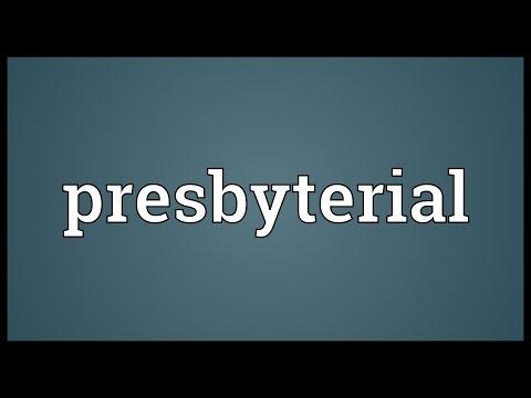 Header of presbyterial