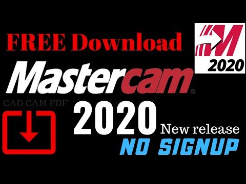 MASTERCAM 2020 FREE Download !! No Sign Up  HLE Version