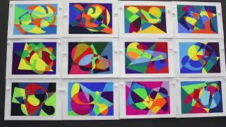 桑沢デザイン研究所同窓会主催/夏季デザイン講座「色彩構成コース」 後期・2017