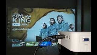 ARTLII HD 720p LED Home Cinema Projector - 2800 Lumens