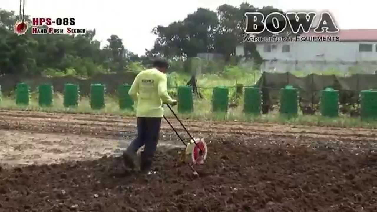 Bowa Hand Push Seeder 8 Slots Hps 08s Youtube