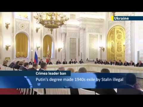 Kremlin bans Crimean Tatar leader from entering Russian-occupied Ukrainian peninsula