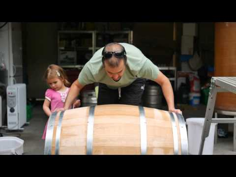 Preparing A New French Oak Barrel To Fill For The Filthy Good Vino Bathtup Project Vintage 2015